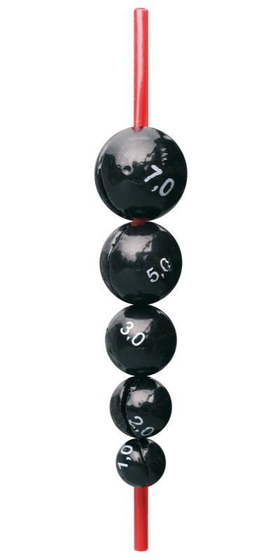 "Központos gömbólom védőcsővel - 3001 ""1-8gr"""